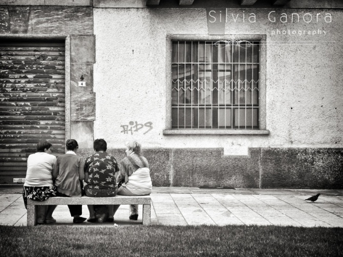 Four ladies and a pigeon - ©Silvia Ganora Photography - All Rights Reserved