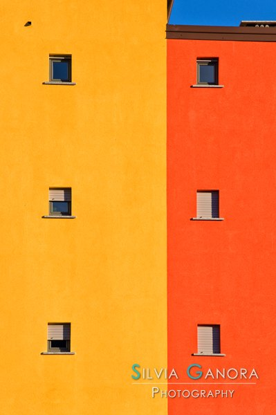 Yellow, orange, blue with windows - ©Silvia Ganora Photography - All Rights Reserved