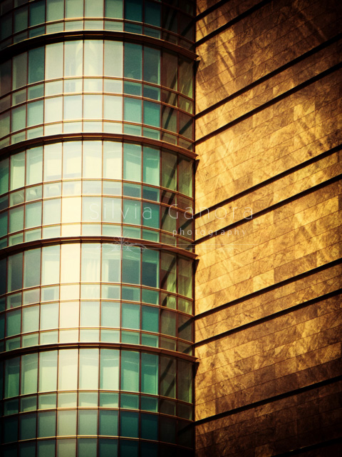 Glass windows in a modern building with an abstract feel - ©Silvia Ganora Photography - All Rights Reserved