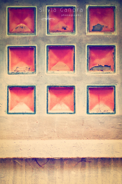 Series of pink squares in a wall - ©Silvia Ganora Photography - All Rights Reserved
