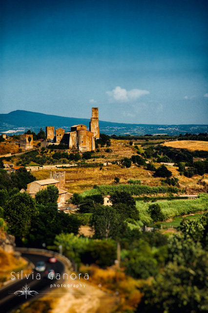 Italian landscape shot in Tuscania with ancient shurch on a hill- ©Silvia Ganora Photography - All Rights Reserved
