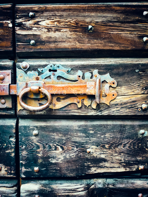Old wooden door with rusty ornate lock- ©Silvia Ganora Photography - All Rights Reserved