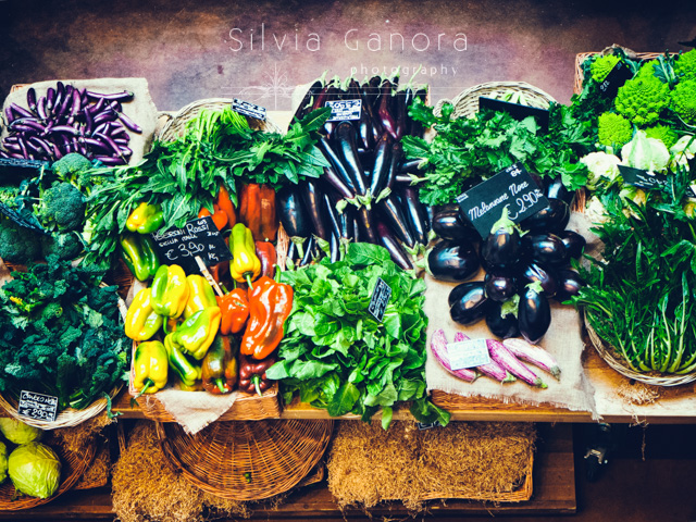 Vegetables stand at a farmers market- ©Silvia Ganora Photography - All Rights Reserved