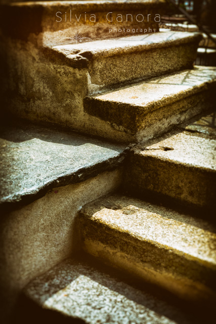Abstract shot of sunlit stone steps leading up.- ©Silvia Ganora Photography - All Rights Reserved