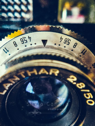 Macro shot of an analogue camera lens with texture applied- ©Silvia Ganora Photography - All Rights Reserved
