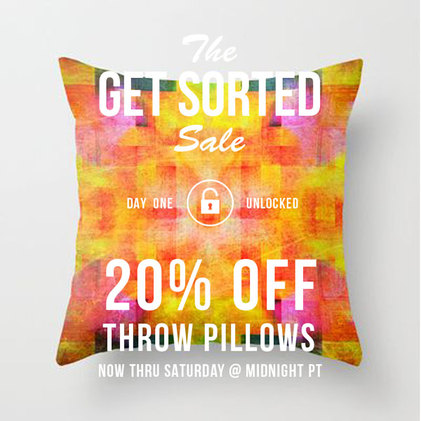 Ends Saturday at Midnight   •  20% Off Throw Pillows   •  Starts at 12:00am PT