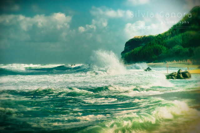 Stormy sea on a windy day with big wave and dramatic sky- ©Silvia Ganora Photography - All Rights Reserved