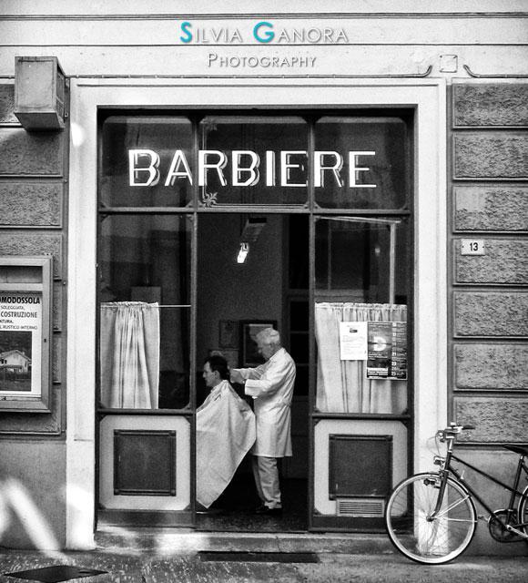 Italian barber shop - Copyright Silvia Ganora Photography