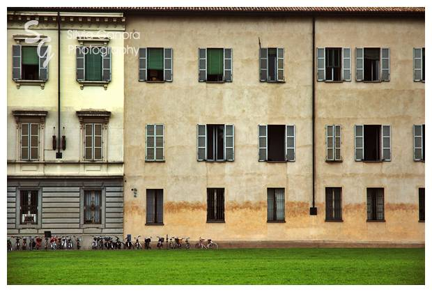 Italian bicycles in a row with house- ©Silvia Ganora Photography - All Rights Reserved