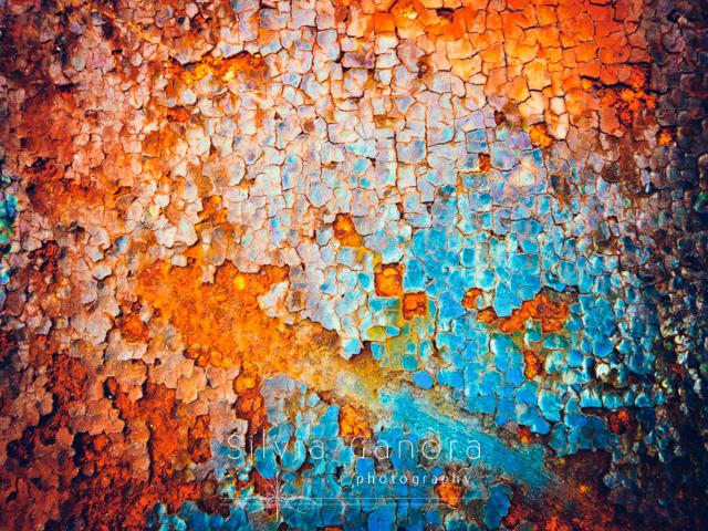 Macro shot of a flaking rusty iron - Copyright Silvia Ganora Photography