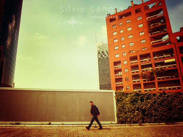 Man walking in a modern city - Copyright Silvia Ganora Photography