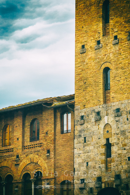 Detail of ancient houses in San Gimignano, Italy- ©Silvia Ganora Photography - All Rights Reserved