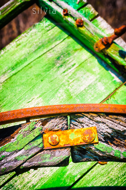 Old wooden structure with rusty iron bolts - ©Silvia Ganora Photography - All Rights Reserved