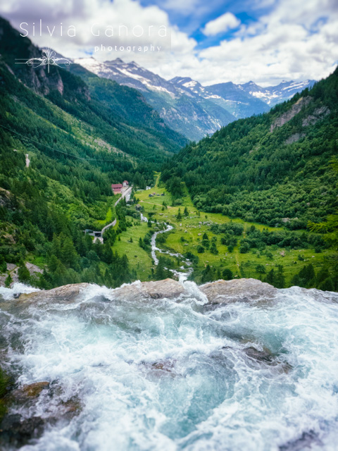 Waters of Toce  waterfall overlooking Italian Alps - ©Silvia Ganora Photography - All Rights Reserved