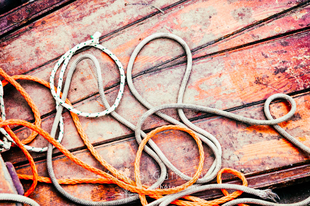 Loose ropes in a boat - ©Silvia Ganora Photography - All Rights Reserved