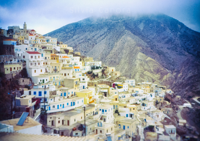 Village of Olympos in the island of Karpathos, Greece -