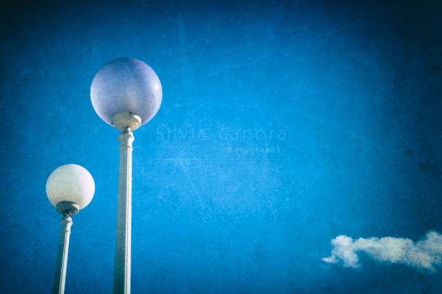 Two streetlamps with cloud - ©Silvia Ganora Photography - All rights reserved
